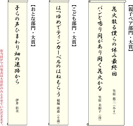 俳句賞の一覧